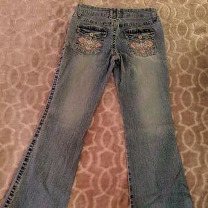 Angels embellished bootcut jeans